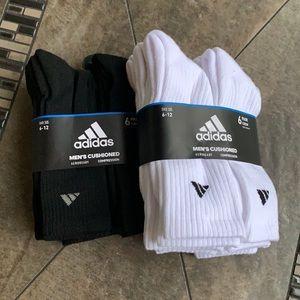 2 x 6 pairs socks set Adidas Men's Cushioned Crew